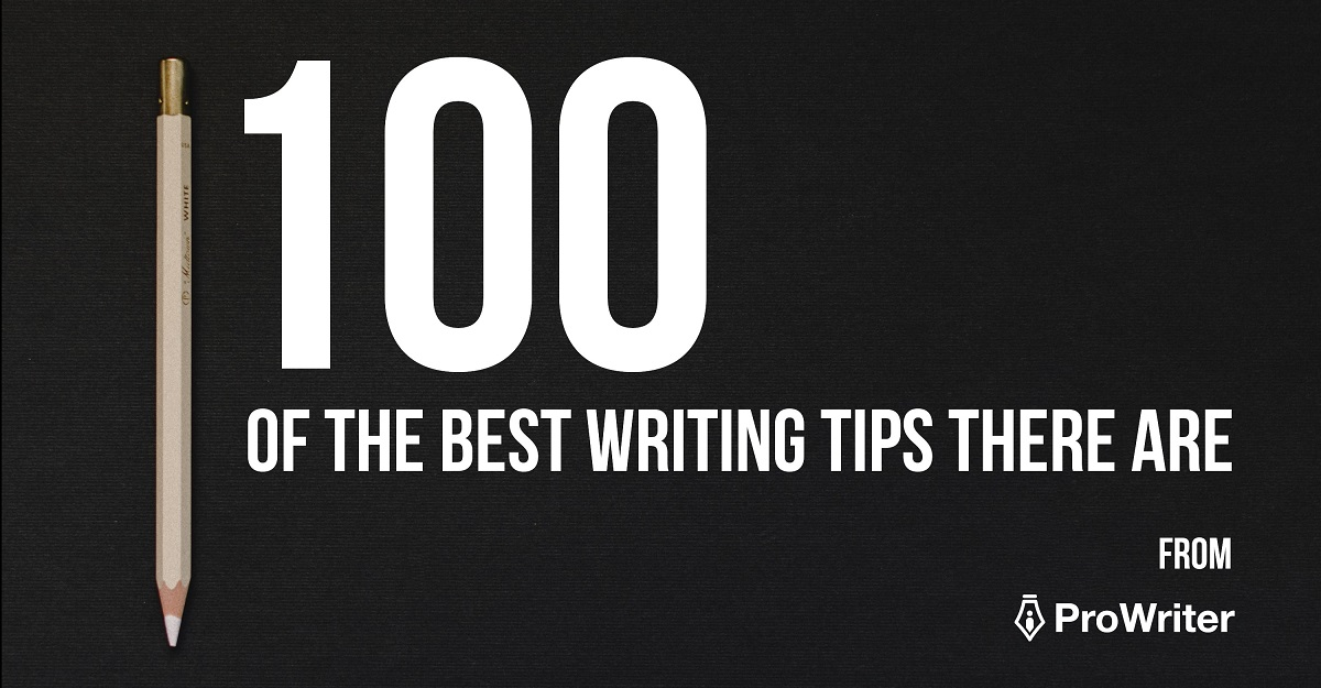 100 of the best writing tips there are